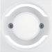 11988989 Centre plate for pilot lamp E14 Berker S.1/B.3/B.7, polar white glossy