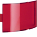 1289 Cover plate for info pilot lamp Light control,  red,  transparent