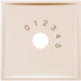 "13018982 Centre plate with imprint ""0 - 1 - 2 - 3 - 4 - 5"" for small sound system white glossy"