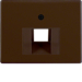 14070001 Centre plate for FCC socket outlet Berker Arsys,  brown glossy