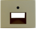 14100001 Centre plate for FCC socket outlet 2gang Berker Arsys,  light bronze matt,  aluminium lacquered