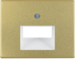 14100002 Centre plate for FCC socket outlet 2gang Berker Arsys,  gold matt,  aluminium anodised