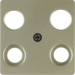 148311 Central plate for aerial socket 4hole (Hirschmann) Communication technology,  light bronze matt,  lacquered