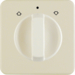 1529 Centre plate with rotary knob for rotary switch for blinds Splash-protected flush-mounted IP44, white glossy