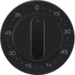 16332045 Centre plate for mechanical timer Berker R.1/R.3, black glossy