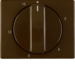 16340001 Centre plate for mechanical timer Berker Arsys,  brown glossy
