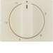16340002 Centre plate for mechanical timer Berker Arsys,  white glossy