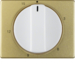 16340102 Centre plate for mechanical timer Berker Arsys,  gold/polar white,  matt/glossy,  aluminium anodised
