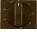 16350001 Centre plate for mechanical timer Berker Arsys,  brown glossy