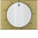 16350102 Centre plate for mechanical timer Berker Arsys,  gold/polar white,  matt/glossy,  aluminium anodised