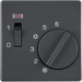 16716086 Centre plate for thermostat pivoted,  Setting knob,  Berker Q.1/Q.3/Q.7/Q.9, anthracite velvety,  lacquered
