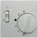 16718989 Centre plate for thermostat pivoted,  Setting knob,  Berker S.1/B.3/B.7, polar white glossy