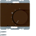 20260001 Thermostat,  change-over contact,  with centre plate Berker Arsys,  brown glossy