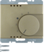 20269011 Thermostat,  change-over contact,  with centre plate Berker Arsys,  light bronze matt,  lacquered