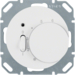 20302089 Temperature controller,  NC contact,  with centre plate with rocker switch,  Berker R.1/R.3/R.8, polar white glossy