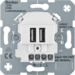 260009 230 V USB charging socket outlet with screw terminals,  Communication technology,  polar white matt