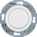 283410 Universal rotary dimmer with centre plate (R,  L,  C) Soft-lock,  polar white glossy