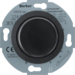 283411 Universal rotary dimmer with centre plate (R,  L,  C) Soft-lock,  Serie 1930/Glas,  black glossy