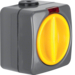 3146 Control rotary switch off/change-over surface-mounted with red lens,  Iso-Panzer IP66, dark grey/yellow