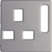 3313076084 Centre plate for socket outlets,  British Standard,  can be switched off Berker Q.1/Q.3/Q.7/Q.9