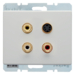 3315320069 3 x Cinch/S-Video socket outlet Berker Arsys,  polar white glossy
