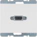 3315407009 VGA socket outlet Berker K.1, polar white glossy