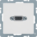 3315416089 VGA socket outlet with screw-in lift terminals,  Berker Q.1/Q.3/Q.7/Q.9, polar white velvety