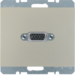 3315417004 VGA socket outlet with screw-in lift terminals,  Berker K.5, stainless steel matt,  lacquered