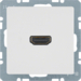 3315426089 High definition socket outlet Berker Q.1/Q.3/Q.7/Q.9, polar white velvety