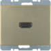 3315429011 High definition socket outlet Berker Arsys,  light bronze matt,  lacquered