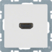 3315436089 High definition socket outlet with 90° plug connection Berker Q.1/Q.3/Q.7/Q.9, polar white velvety