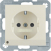 41098982 SCHUKO socket outlet with LED orientation light enhanced contact protection,  Screw-in lift terminals,  white glossy