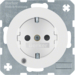 41102089 SCHUKO socket outlet with control LED with labelling field,  enhanced contact protection,  with screw-in lift terminals,  Berker R.1/R.3/R.8, polar white glossy