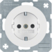 41232089 SCHUKO socket outlet with enhanced touch protection,  with screw-in lift terminals,  Berker R.1/R.3/R.8, polar white glossy