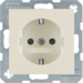 41238982 SCHUKO socket outlet with enhanced touch protection,  Screw-in lift terminals,  Berker S.1, white glossy