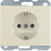 41350002 SCHUKO socket outlet with enhanced touch protection,  Screw-in lift terminals,  Berker Arsys,  white glossy