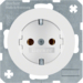 41432089 SCHUKO socket outlet with screw-in lift terminals,  Berker R.1/R.3/R.8, polar white glossy