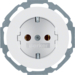 41452089 SCHUKO socket outlet Installation position variable in 45° steps,  with screw-in lift terminals,  Serie R.classic,  polar white glossy