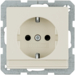 41496082 SCHUKO socket outlet with labelling field,  with enhanced touch protection,  with screw-in lift terminals