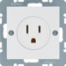 41668989 Socket outlet with earthing contact USA/CANADA NEMA 5-15 R with screw terminals,  Berker S.1/B.3/B.7, polar white glossy