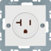 41681909 Socket outlet with earthing contact USA/CANADA NEMA 5-20 R with screw terminals,  Berker S.1/B.3/B.7, polar white matt,  lacquered
