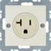 41688982 Socket outlet with earthing contact USA/CANADA NEMA 5-20 R with screw terminals,  Berker S.1, white glossy