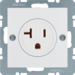 41688989 Socket outlet with earthing contact USA/CANADA NEMA 5-20 R with screw terminals,  Berker S.1/B.3/B.7, polar white glossy