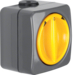 4342 Rotary switch for blinds 2pole with imprint surface-mounted Setting knob,  Iso-Panzer IP66, dark grey/yellow