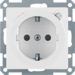 47086089 SCHUKO socket outlet with residual current circuit-breaker enhanced contact protection,  polar white velvety