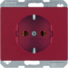 47150062 SCHUKO socket outlet Berker Arsys,  red glossy