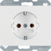47157009 SCHUKO socket outlet Berker K.1, polar white glossy