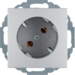47271404 SCHUKO socket outlet 45° aluminium,  matt,  lacquered