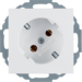 47278989 SCHUKO socket outlet 45° polar white glossy