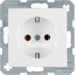 47431909 SCHUKO socket outlet Berker S.1/B.3/B.7, polar white matt